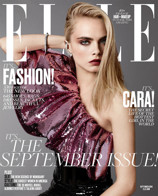 Actress, Model, @ Cara Delevingne by Terry Tsiolis Elle US September 2016