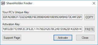 ShareHolder Finder Activation