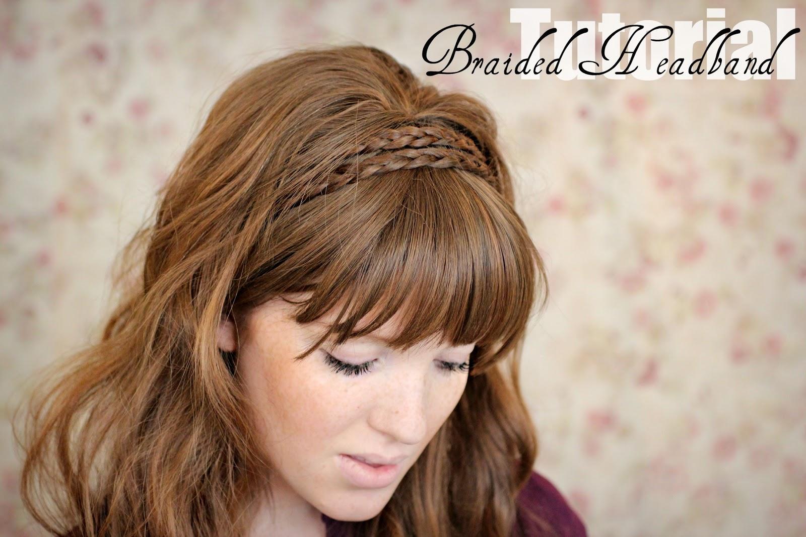 The Freckled Fox: Hair Tutorial // Braided Headband