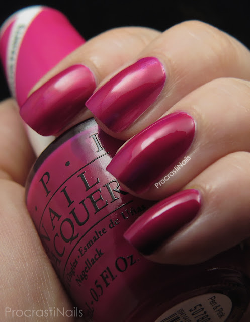 Swatch of OPI Pen & Pink from the 2015 Color Paints Collection