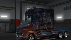Scania T Veverna and Girl Skin