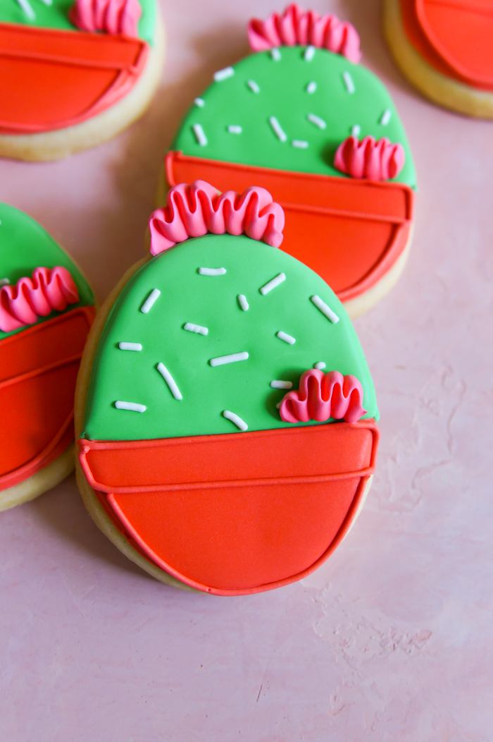 Cactus Easter Egg Cookies