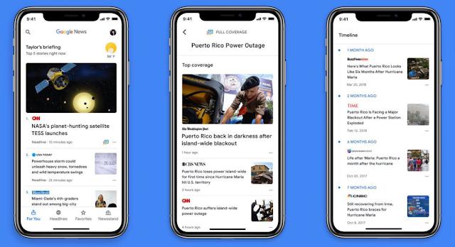 تطبيق جوجل نيوز الجديد 2018