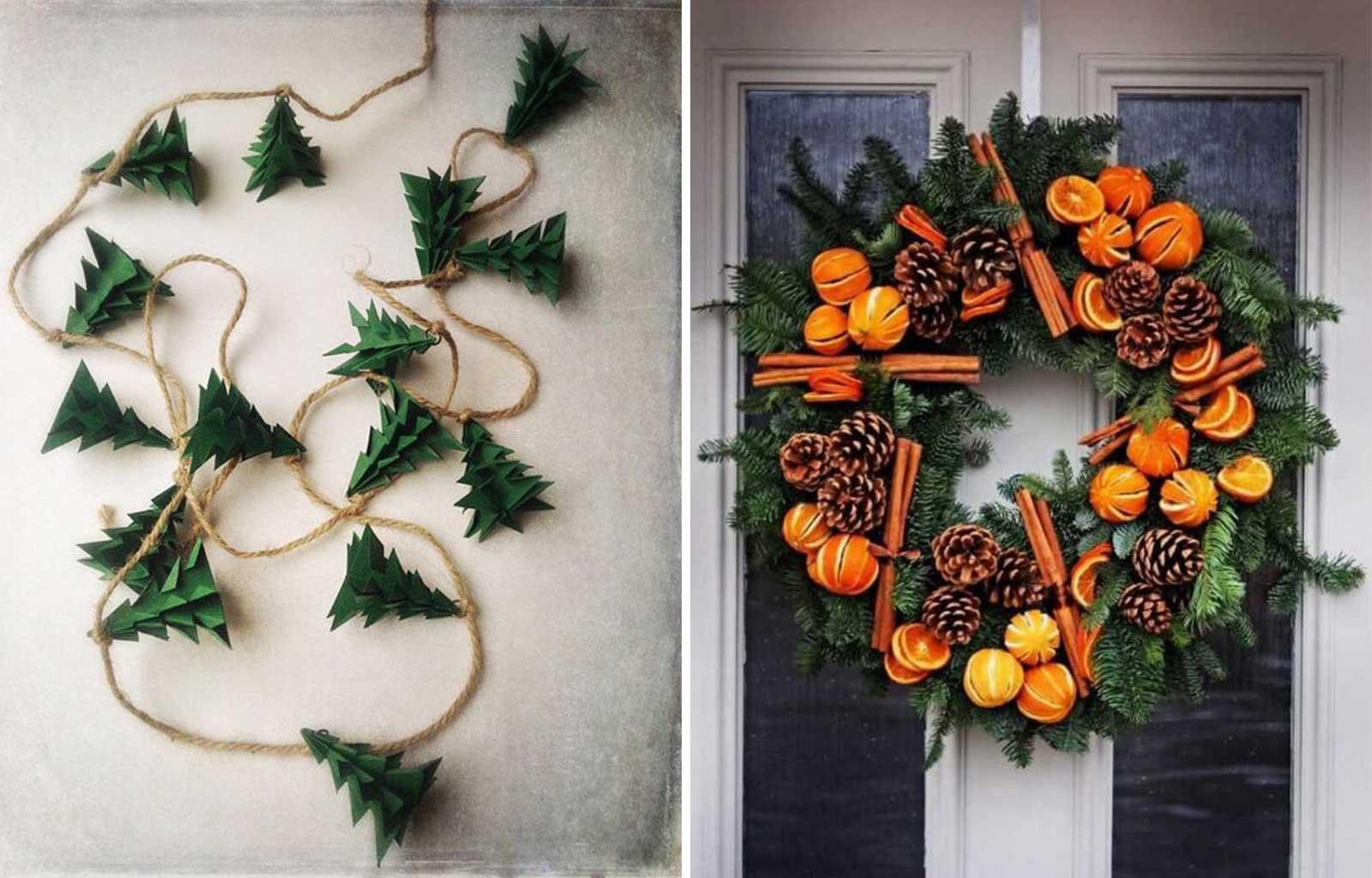 tendances déco fêtes fin d'année noël green
