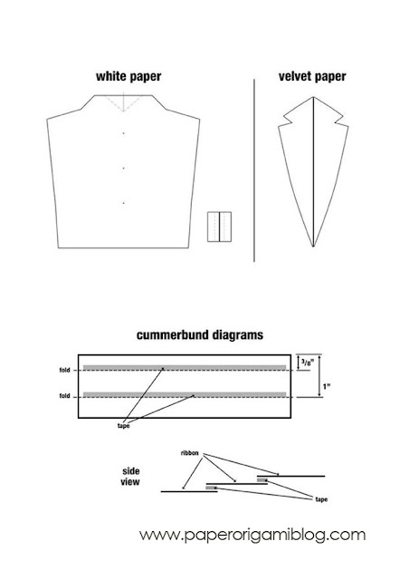 Tuxedo origami pattern