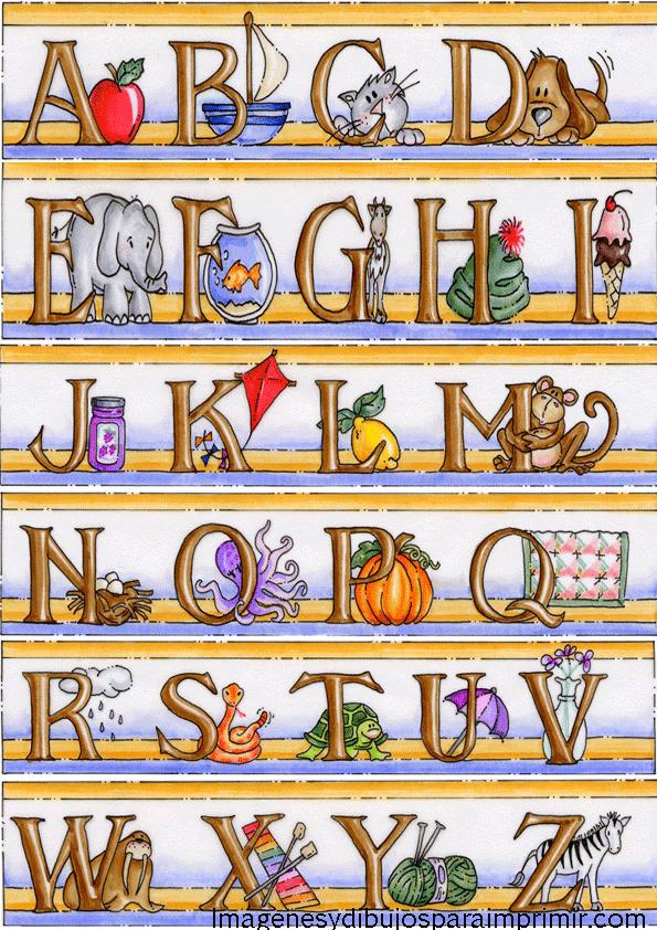 abecedario en ingles infantil para imprimir y aprender