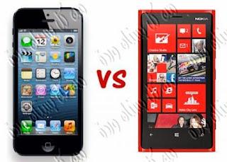 تعليم بالفيديو مقارنة بين  نوكيا لوميا 920 والآيفون iphone 5,lumia 920