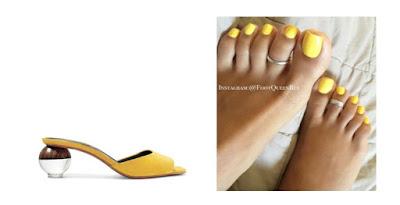 gel nail polish yellow pedicure design