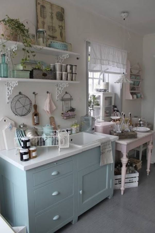 This Cheap Vintage Shabby Chic Style Kitchen Design And Decorating Ideas Read Article