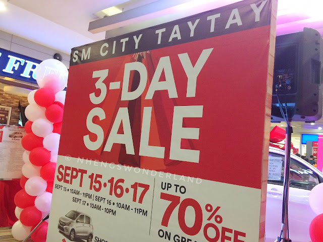 SM City Taytay 3 Day SALE - September 15-17!