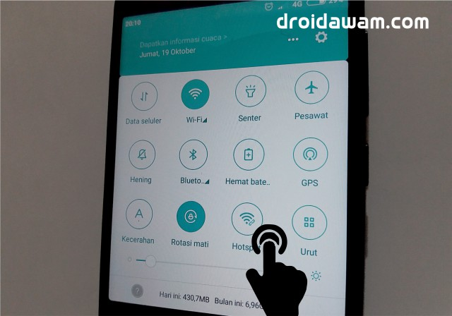 Cara Mengaktifkan Wifi dan Hotspot Bersamaan di Android