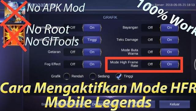 Jika Anda mencari cara mengaktifkan mode high frame rate di Mobile Legends maka Anda sudah Begini Cara Mengaktifkan Mode High Frame Rate Mobile Legends