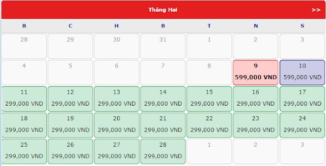Giá vé máy bay đi Vinh rẻ nhất tháng 2