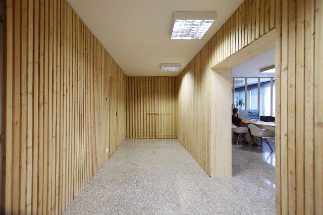 Studio di Architettura di Marcio Tolotti rivestimento in legno su disegno