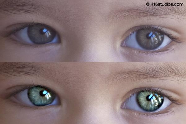 Фоторетушь глаз в Фотошопе