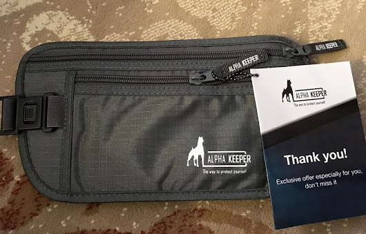 Product Review: Alpha Keeper Money Belt with Passport+Credit Card RFID Sleeves