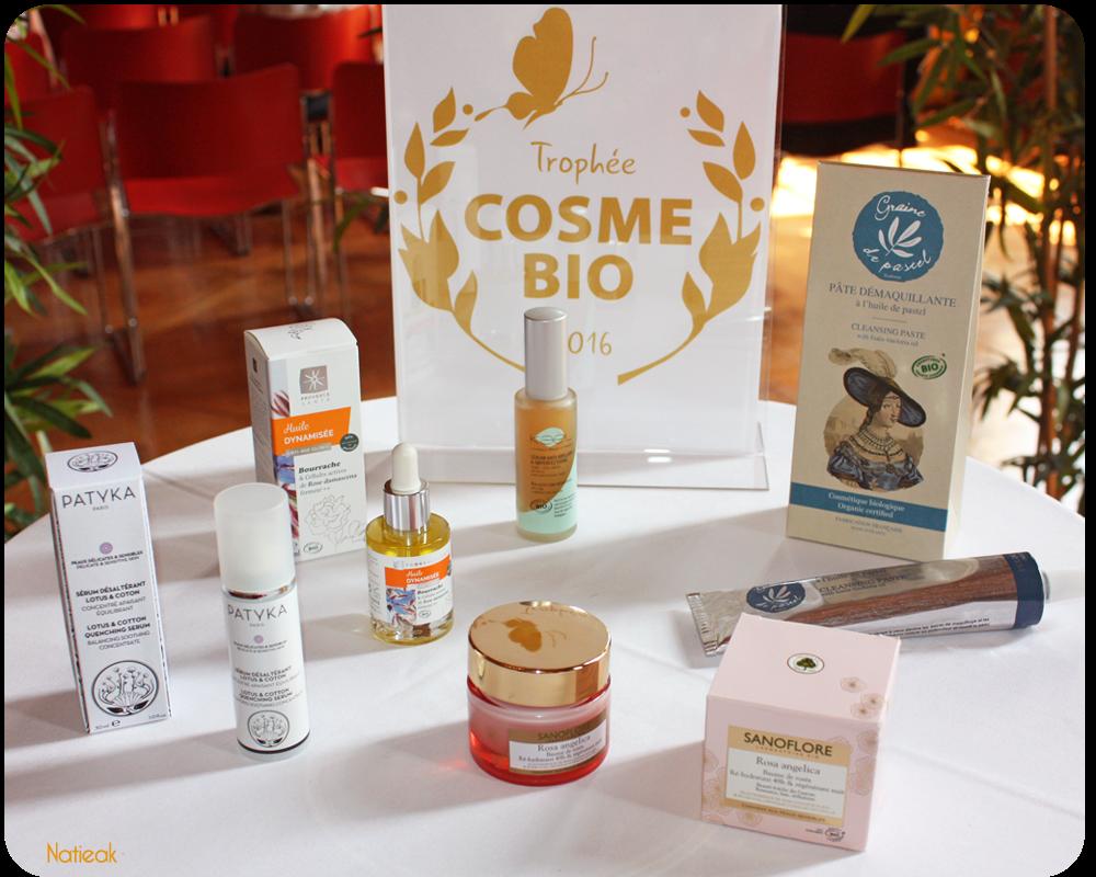 Lauréats des Trophées COSMEBIO® de l'Excellence Cosmétique 2016