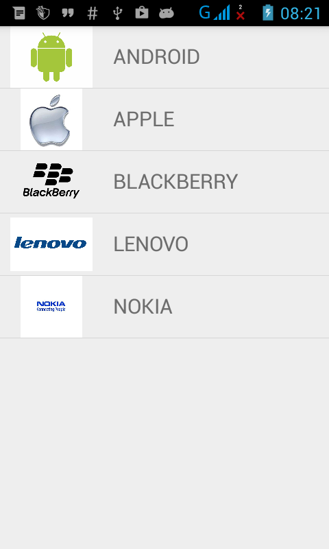 Hasil Custom ListView di Android