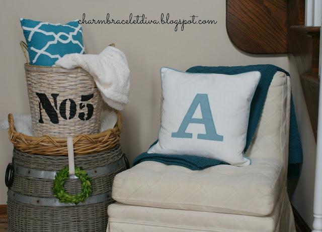Target Monogram pillow