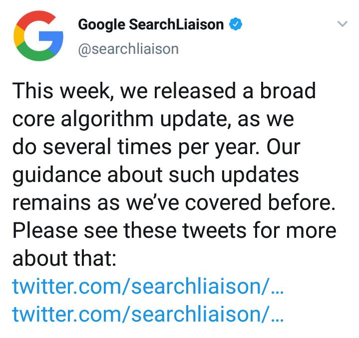 Update Algoritma Google Core 2019