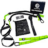 Suspension Trainer EX2 Workout Straps - Increase Flexibility, Improve Mobility and Strengthen Your Core with the Bodyweight Trainer that's 100% Guaranteed to NEVER Break