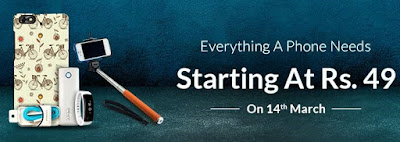 Snapdeal Mobile Accessories Sale Starting Rs. 49 On 14th March 2016