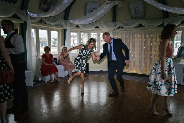 Pavilion Theatre Bar Cromer wedding dancefloor