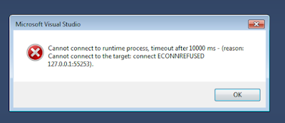 cannot connect to target connect econnrefused