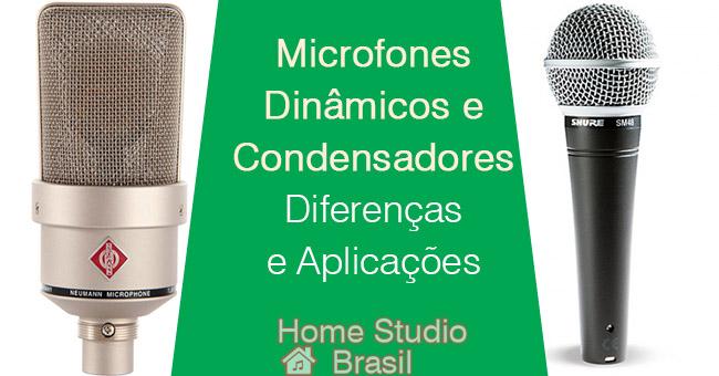 Microfones Dinâmicos e Condensadores | Diferenças e Aplicações