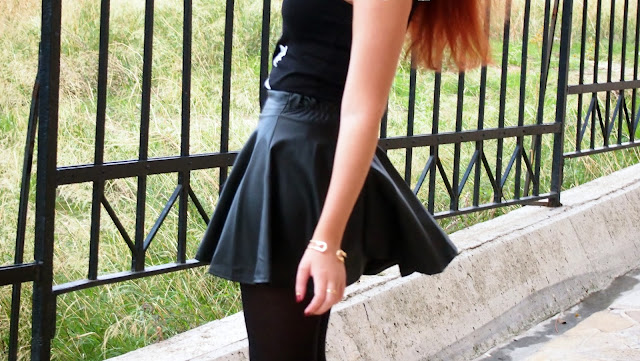 Redhead,outfit,pretty little psycho,rock,skirt,leather,leather skirt,persunmall,zara,pirate,pirate bar,hydra,ringsandtings, Rings and Tings,accessories ,winter, 2013, 2014