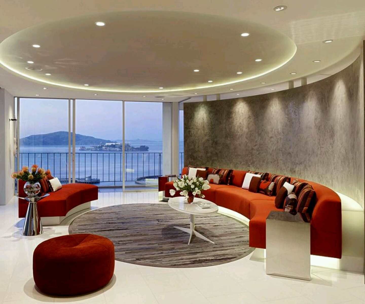 Modern interior decoration living rooms ceiling designs ideas  Modern Home Designs