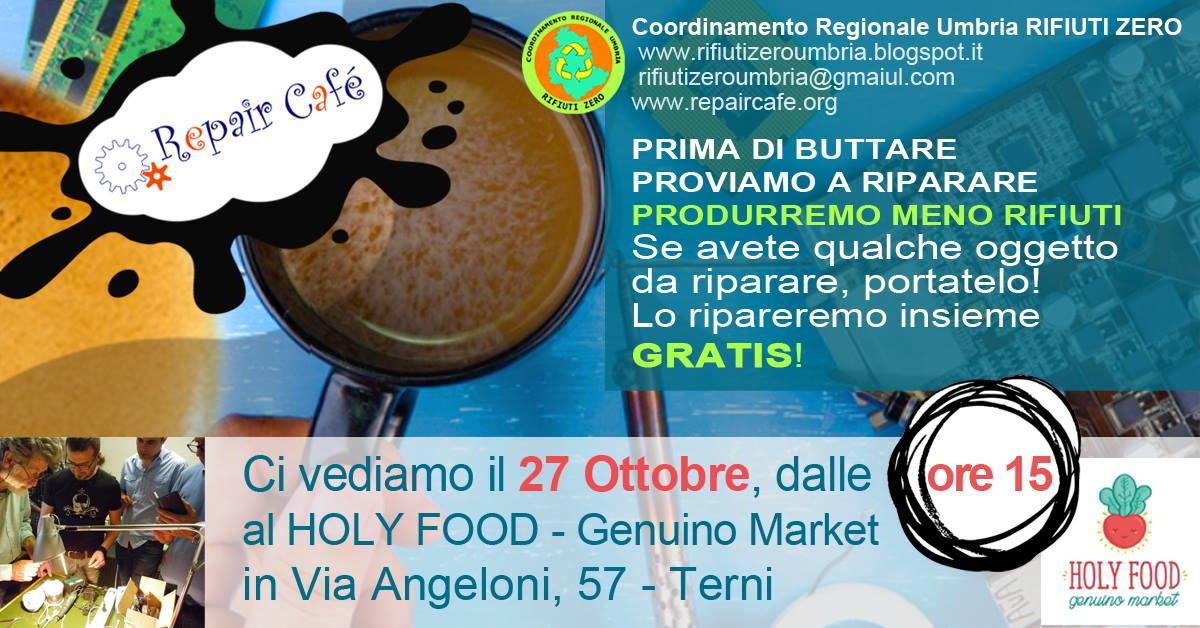 Il Repair Cafe' arriva a Terni - Venerdi 27 ottobre ore 15