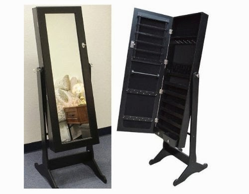 Black Mirrored Jewelry Cabinet