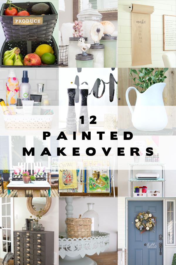 12 painted makeovers using HomeRight spray shelters.