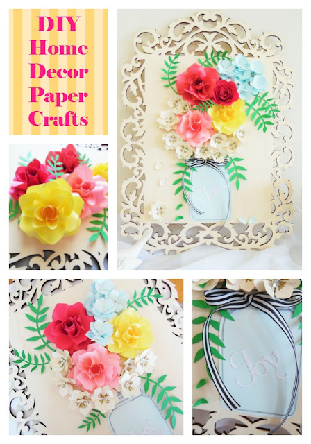 3D Paper Flower Wall Art- Home Wall Decor - Abbi Kirsten ...