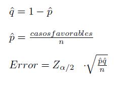 error proporcion
