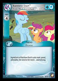 My Little Pony Rainbow Dash, Cutie Mark Consultant Equestrian Odysseys CCG Card
