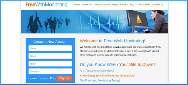 freewebmonitoring layanan peringatan situs error