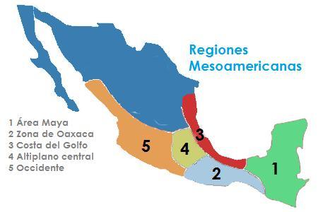 regiones mesoamericanas