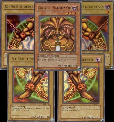 Carte famose e leggendarie Yu-Gi-Oh: Exodia il Proibito