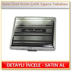 İsme Özel Krom Çelik Sigara Tabakası