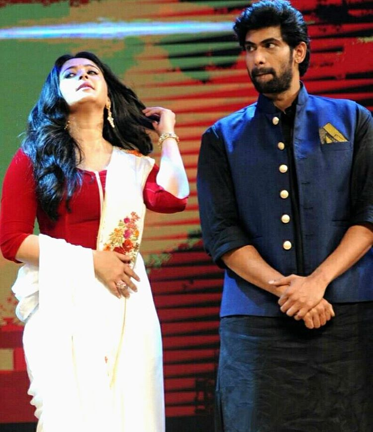 Anushka Shetty With Rana in Audio lunch event