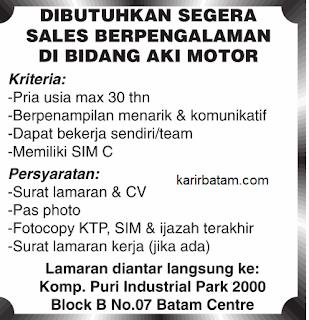 Lowongan Kerja Sales Puri Industrial Park