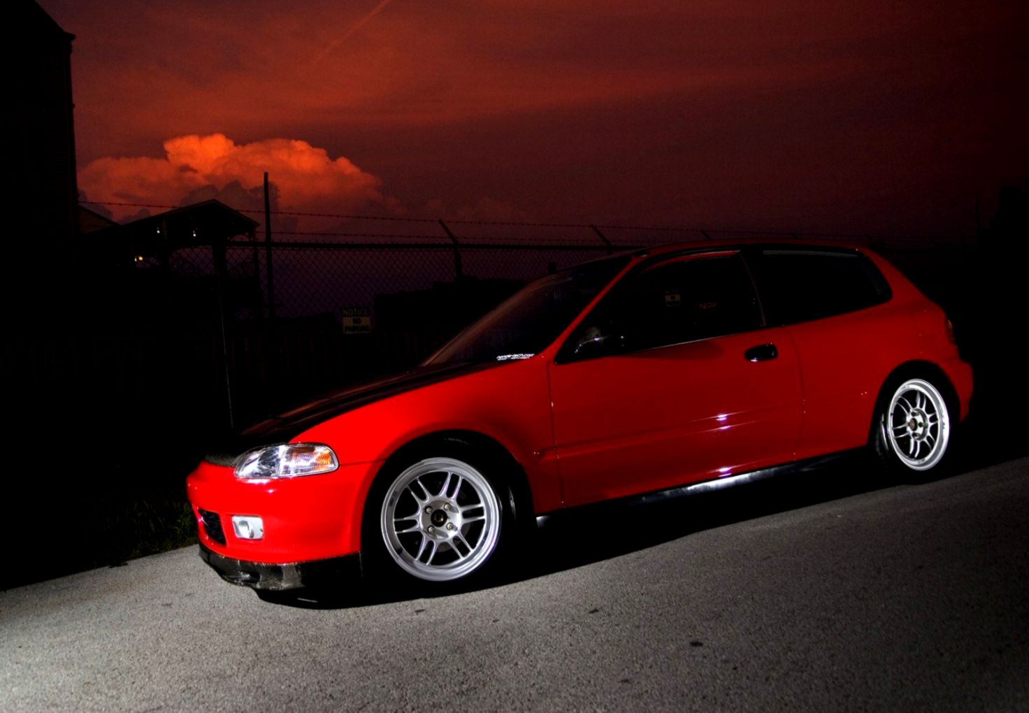 Honda Civic Car Tuning Parking Hd Wallpaper Wallpapers Corner