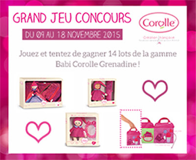 Jeu Concours Corolle 14 Lots Babi Carolle Grenadine à gagner !