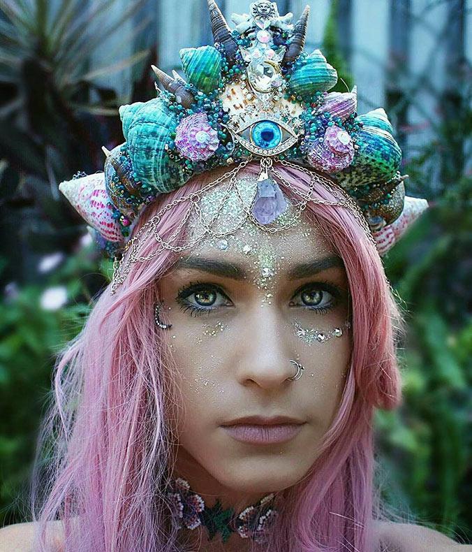 Coronas de sirenas deslumbrantes inspirado por Ariel de Chelsea Shiels
