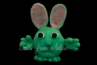 OOAK needle felted bunny rabbit