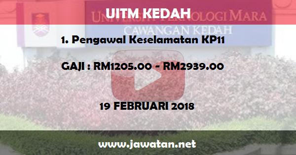 Jawatan Kosong di Universiti Teknologi Mara (UiTM) Kedah