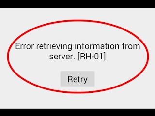 Cara Memperbaiki Error retrieving information from server RH-01
