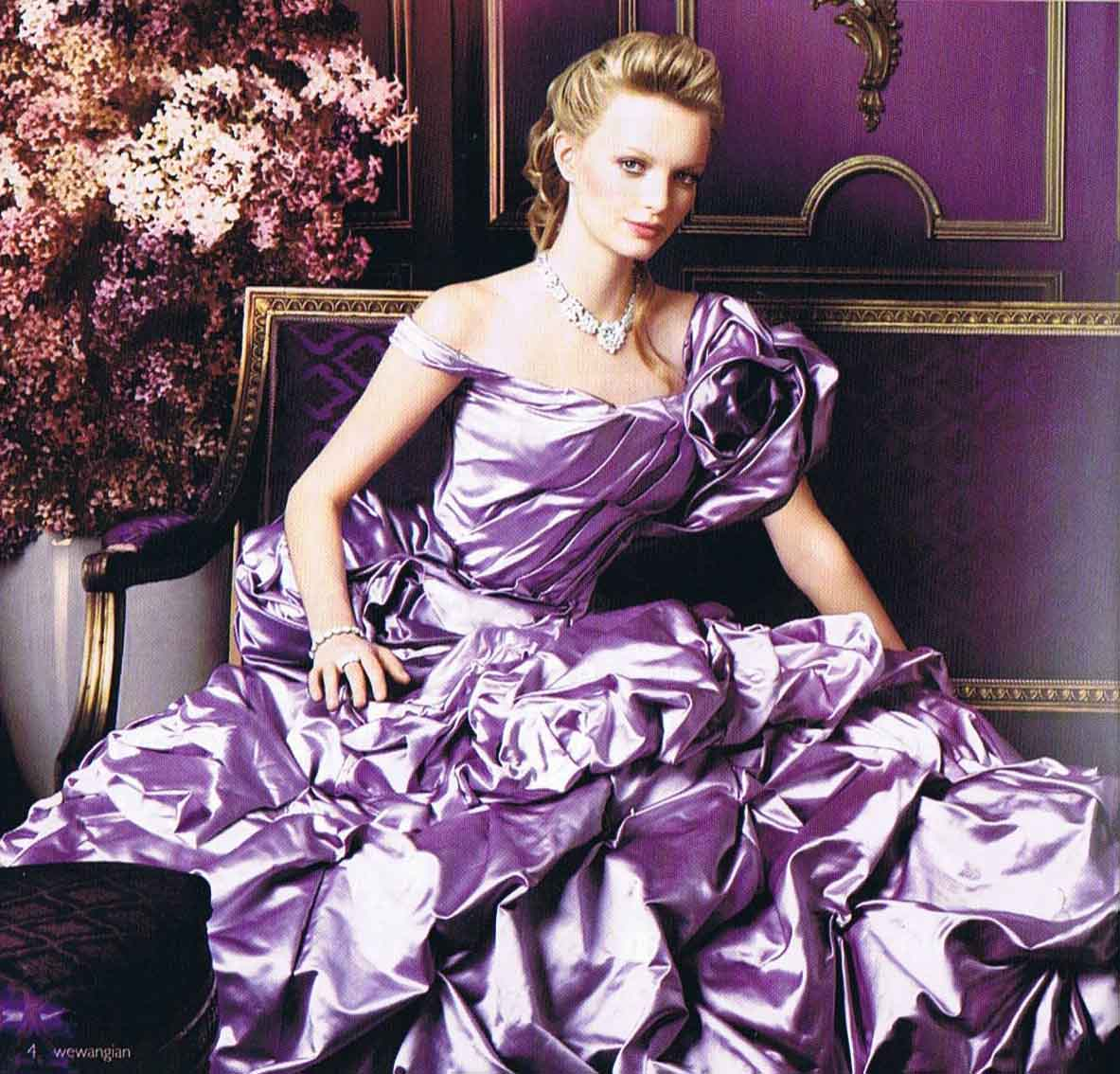 purple wedding dress-Knitting Gallery